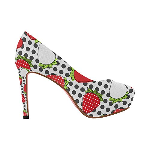 InterestPrint Colorful High Wedge Graffiti Heel Size Color8 Shoes Flowers Women 5 Constellation 11 Pattern Pump ArqYAw