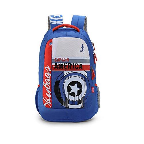 Skybags Sb Marvel 31.482 Ltrs Blue School Backpack (SBMAE01BLU)