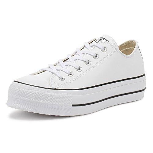 Converse Women's Chuck Taylor All Star Lift Clean Sneaker, White/Black/White, 7 M US