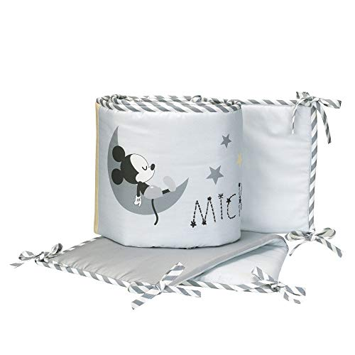 Lambs & Ivy Disney Baby Mickey Mouse 4-Piece Crib Bumper, Gay/White ()