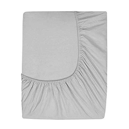 Prime Deep Pocket Fitted Sheet - Brushed Velvety Microfiber - Breathable, Extra Soft and Comfortable - Winkle, Fade, Stain Resistant (Grey, California ()