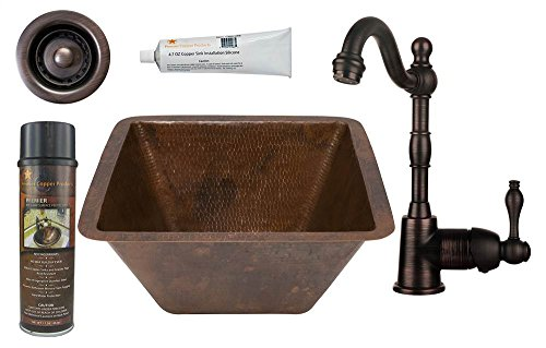 Square Prep Sink with Faucet and Accessories