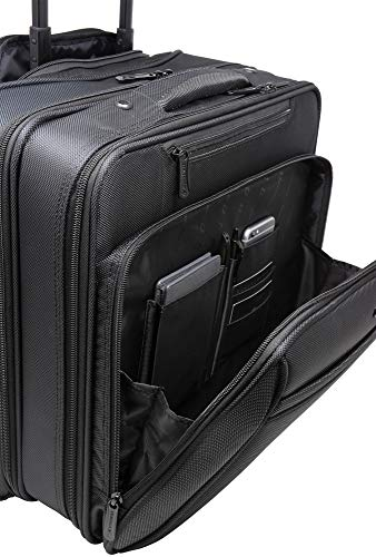 Alpine Swiss Rolling Laptop Briefcase Wheeled Overnight Carry on Bag Up to 15.6 Inches Notebook - Carries Legal Size Files by alpine swiss (Image #3)