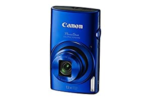 Canon PowerShot ELPH 170 IS 20.0 Megapixel Digital Camera with 2.7 Inch LCD, 12x Optical Zoom and 720P HD Video (Blue) (Certified Refurbished)