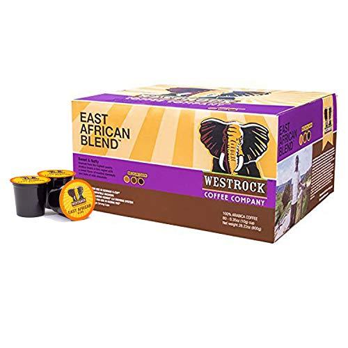 (Westrock Coffee Company East African Blend, Single Serve Coffee Pod, Medium-Dark Roast, 80 Count)