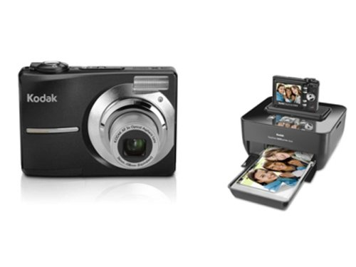 Kodak EASYSHARE C613 - Digital camera - compact - 6.2 Mpix - optical zoom: 3 x - supported memory: MMC, SD - black pearl - with KODAK EASYSHARE Printer Dock G610