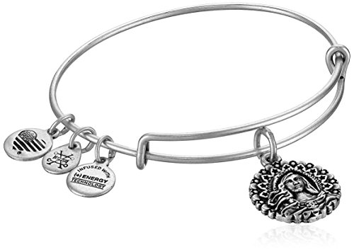 Alex and Ani Mary Magdalena Bangle Bracelet, Rafaelian Silver, Expandable