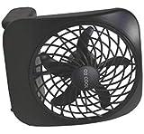 O2COOL 5-Inch Portable Desktop Air Circulation Battery Fan - 2 Cooling Speeds - Compact Folding & Tilt Design, Black