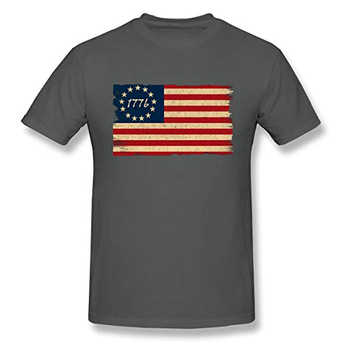 Men's Cotton T-Shirt Betsy Ross Flag Vintage 1776