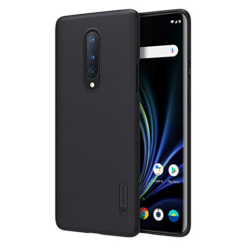 Oneplus 8 Case, Nillkin Frosted Shield Hard Slim Case Back Cover for Oneplus 8 - Black