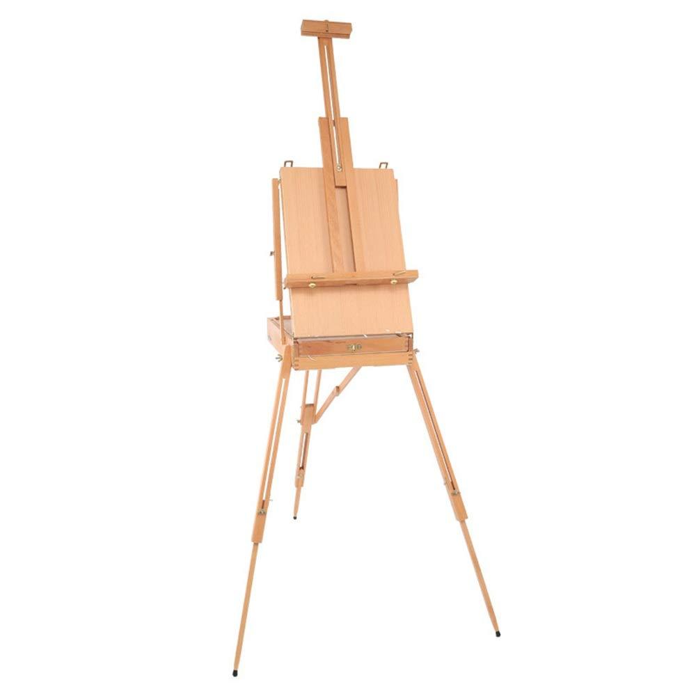 イーゼル 木製アートイーゼル三脚スケッチアーティスト画家クラフト折りたたみ製図板軽量ポータブル 調節可能 スケッチ 写生 看板 絵画 イーゼル スタンド (色 : Burlywood, サイズ : ワンサイズ) ワンサイズ Burlywood B07S1TQ55W