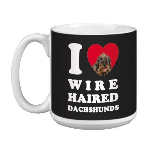 Tree Free Greetings XM29039 I Heart Wire Haired Dachshunds Artful Jumbo Mug, 20-Ounce