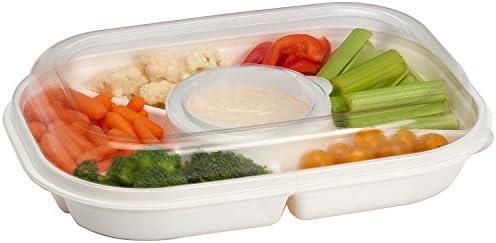 Portable Serving Ware Compartments Appetizers Buddeez