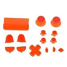 Generic L2 R2 L1 R1 Thumbstick Joystick D-pad Anolog Cap Button Mod Game Set Bullet Kit for Sony PS4 Controller Orange