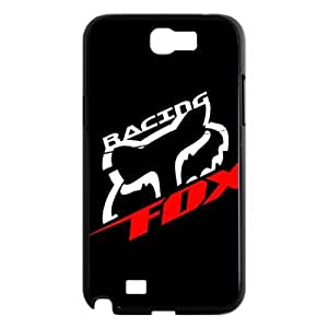 Black Top Design Fox Racing Samsung Galaxy Note 2 N7100 Faceplate Hard Cell Protector Housing Case Cover Snap On NEW