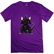 Spacegodzilla New Short Sleeve T Shirt For Mens Purple XS Modern T Shirt