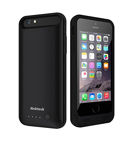 4000mah External Battery Case iPhone 7 Plus (Black) - 6