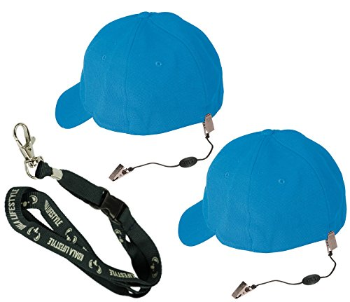 Chums Hat Lanyard, Keeper, Clip, Retainer, Strap, Keeper, Cord, Leash for Caps and Eyewear | 2pk Bundle + Koala - Hat Sunglasses Baseball