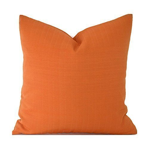 Outdoor Decorative Throw Pillow Cover Any Size OD Sunsetter Orange