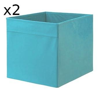 x2 IKEA DRONA - azul caja de almacenaje - 33 x 38 x 33 cm - para estantería EXPEDIT - Juego de dos: Amazon.es: Industria, empresas y ciencia