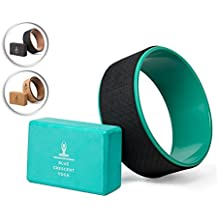 Yoga Wheel for Stretching - Back Pain - Back Bends - Dharma Yoga Wheel 13 Inches with One Yoga Block Included