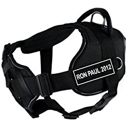 "Dean & Tyler 34 to 47-Inch ""Ron Paul 2012"" Fun Harness with Padded Chest Piece, X-Large, Black"