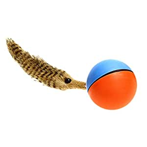 MagiDeal Fun Weasel Chases Jumping Rolling Motor Ball Toy for Pets Dog Cats Children