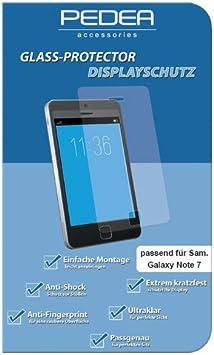 PEDEA 11170130 Galaxy Note 7 - Protector de Pantalla (Protector de Pantalla, Samsung, Galaxy Note 7, Resistente a Golpes, 1 Pieza(s)): Amazon.es: Electrónica