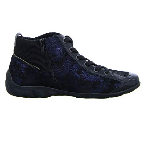 Black Negro Altas Remonte Pazifik Mujer Zapatillas metallic 14 Schwarz para R3446 nq7fwf1YF