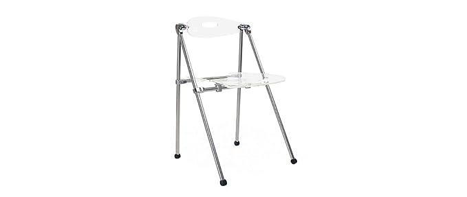 Miliboo - Lote de 4 sillas plegables de diseño JULIE: Amazon ...