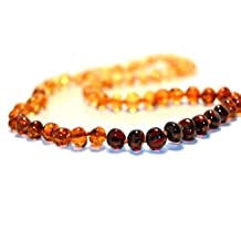The Art of Cure™ Rainbow Round (Certified) Baltic Amber Mens/womens Adult Healing Necklace 17 Inches- W/the Art of Cure™ Jewelry Pouch