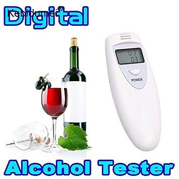 ... Mini Profesional Probador de Aliento de Alcohol Digital Police Alcohol Analyzer Tester Gadget Detector para la conducción Segura del Conductor