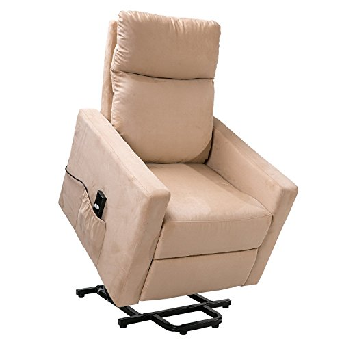 LIFE CARVER Recliner Armchair Lift Leather Home Lounge Rise and Recliner...