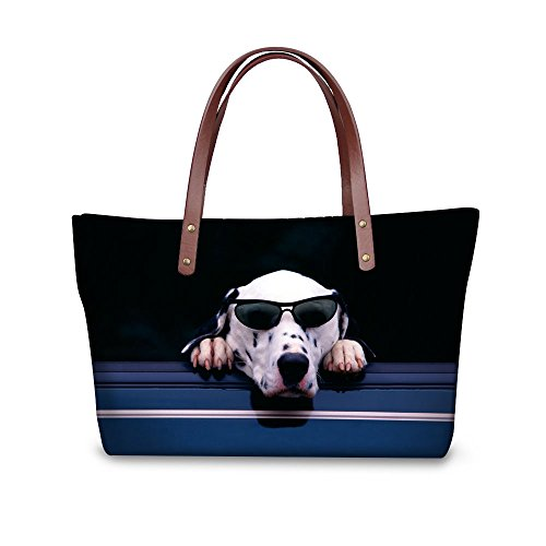 Dog Blue Bags FOR Resistant Capacity Animal Fashion Water Bags DESIGNS Funny U Tote Shoulder Large Women's qw6ZfRq
