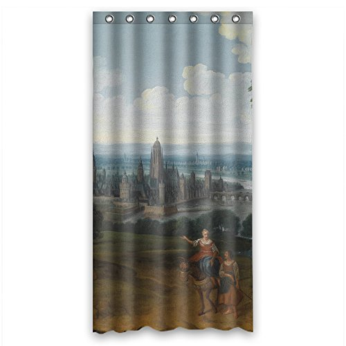 Price comparison product image Monadicase Polyester Bathroom Curtains Of Beautiful Scenery Landscape Painting For Girls Father Gf Boys Kids Girl. Healthy Width X Height / 36 X 72 Inches / W H 90 By 180 Cm(fabric)