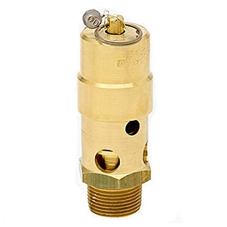 All Brass with Stainless Steel Springs 250 Degree F Max Temperature Midwest Control SW12-135 ASME Soft Seat Safety Valve 1-1//4 NPT 1-1//4 1-1//4 NPT 135 psi