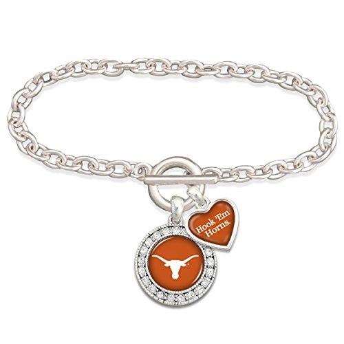 Texas Longhorn Bevo Costume (Texas Longhorn Silver Tone Toggle Clasp Bracelet)