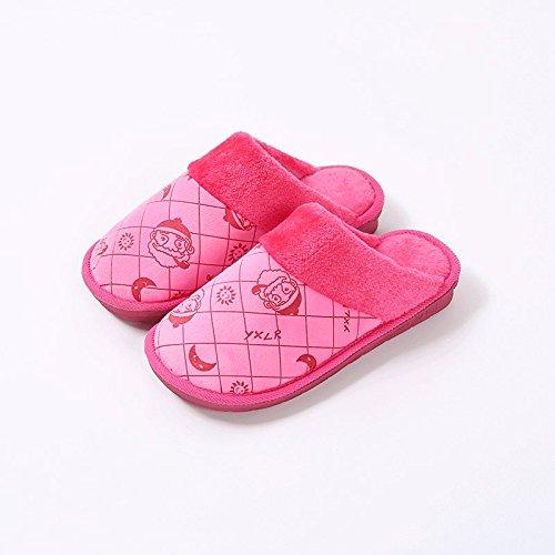 Cotone habuji pantofole inverno uomini home scivoloso interno caldo inverno Babbo Natale cartoon pantofole, 36/37, rosa