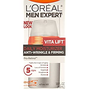 L'Oréal Paris Men's Expert VitaLift Anti Aging Face Moisturizer and Wrinkle Cream, 1.6 fl. oz.