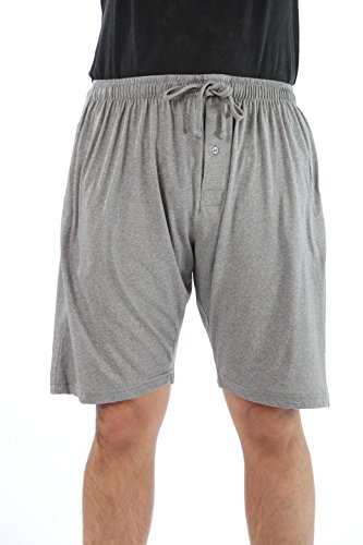 At The Buzzer Men's Pajama Shorts Sleepwear PJs 14504-GRY-XXXL Grey ()