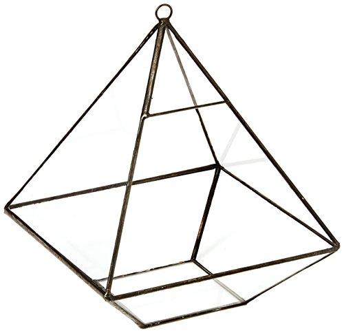 chic2click Hanging Geometric Modern Prism Pyramid Tabletop Glass Succulent Plant Terrarium Box, Air Plant & Cacti Holder Case