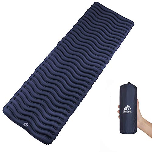 Unigear Inflatable Sleeping Air Pad, Compact Air Camping Mat, Ultralight Camping Mattress and Pillow for Backpacking, Hiking and -