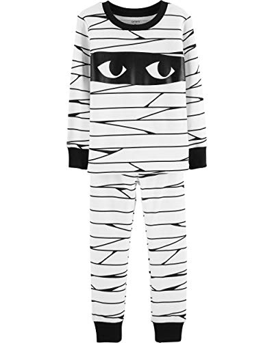 Carter's Boys Halloween Mummy Glow-in-The-Dark Pajama Pjs 2 pc - Unisex Mummy