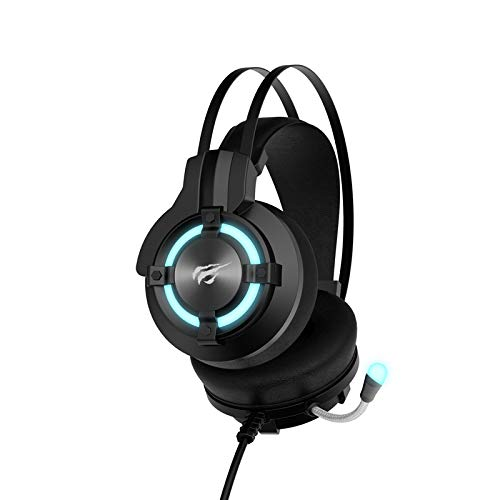 Headset Gamer USB 7.1 Iluminação LED 0Hz-20Khz, Falante de 40 mm, HAVIT, HV-H2212U, Preto