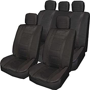 Car seat covers fit Vauxhall Astra H full set black blue