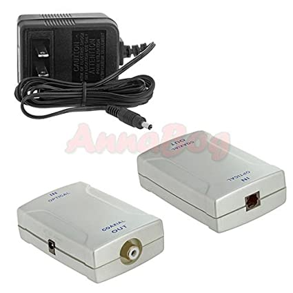 Optical Toslink Audio Converter to Digital S/PDIF Coax Coaxial