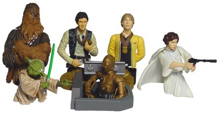 Star Wars Bust-Ups Series 1 - Heroes of the Rebellion set of 6