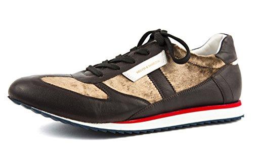 Melvin & Hamilton - Zapatos de cordones de Piel Lisa para hombre marrón marrón 42 marrón