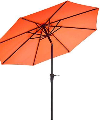 Wikiwiki 9ft Patio Umbrella Outdoor Market Table Umbrella