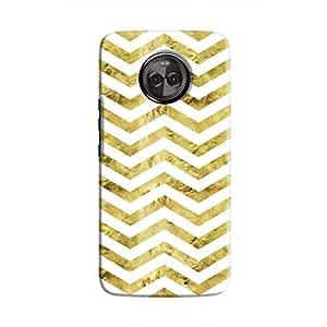 Cover It Up - Gold White Tri Stripes Moto X4 Hard case